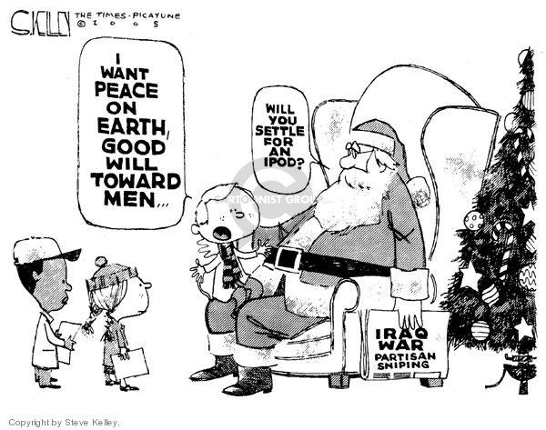 Cartoonist Steve Kelley  Steve Kelley's Editorial Cartoons 2005-12-02 claus