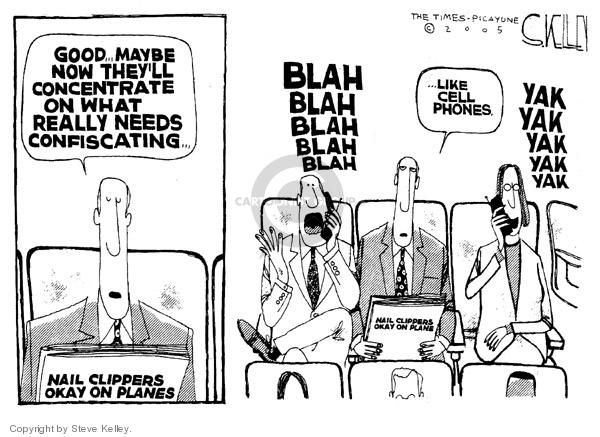 Cartoonist Steve Kelley  Steve Kelley's Editorial Cartoons 2005-12-07 cellular