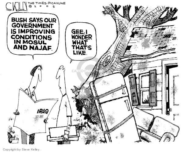 Steve Kelley  Steve Kelley's Editorial Cartoons 2005-12-09 disaster aftermath
