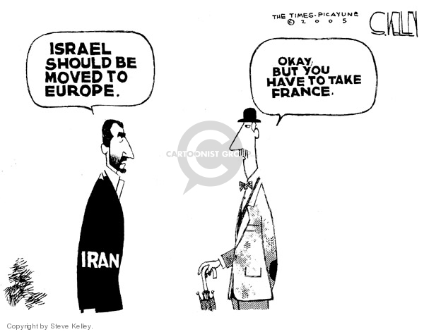 Steve Kelley  Steve Kelley's Editorial Cartoons 2005-12-19 Israel