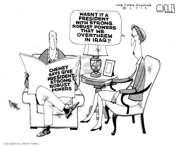 Cartoonist Steve Kelley  Steve Kelley's Editorial Cartoons 2005-12-23 George W. Bush