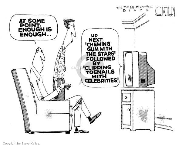 Steve Kelley  Steve Kelley's Editorial Cartoons 2006-01-20 reality television