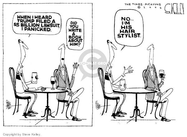 Cartoonist Steve Kelley  Steve Kelley's Editorial Cartoons 2006-01-25 hair
