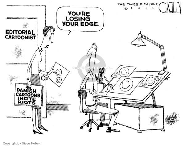 Steve Kelley  Steve Kelley's Editorial Cartoons 2006-02-08 civil liberty