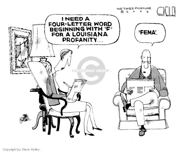 Steve Kelley  Steve Kelley's Editorial Cartoons 2006-02-10 disaster aftermath
