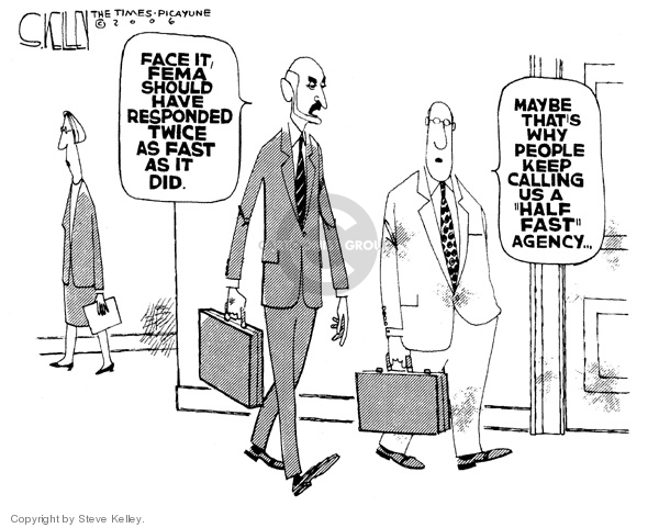 Cartoonist Steve Kelley  Steve Kelley's Editorial Cartoons 2006-02-16 Michael Chertoff
