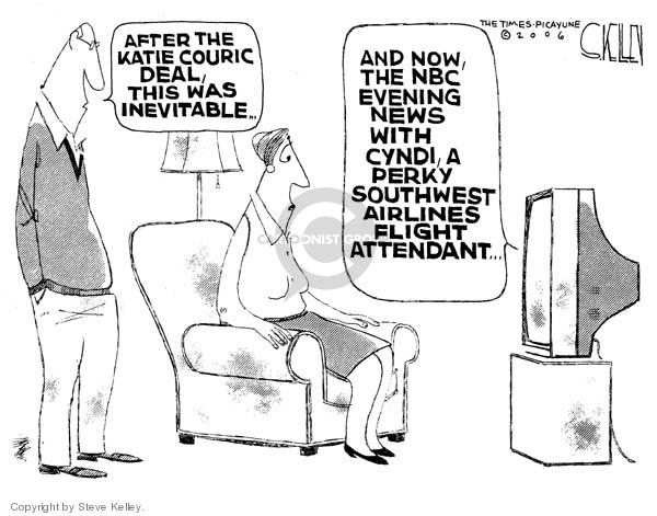 Steve Kelley  Steve Kelley's Editorial Cartoons 2006-04-08 Southwest Airlines