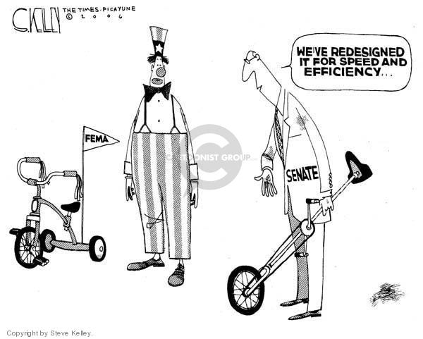 Steve Kelley  Steve Kelley's Editorial Cartoons 2006-04-28 disaster aftermath