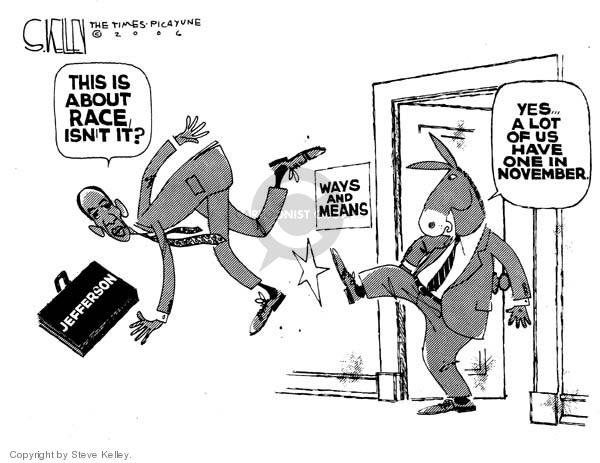 Steve Kelley  Steve Kelley's Editorial Cartoons 2006-06-19 racism