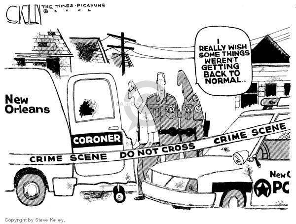 Steve Kelley  Steve Kelley's Editorial Cartoons 2006-06-20 disaster aftermath