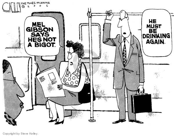 Steve Kelley  Steve Kelley's Editorial Cartoons 2006-08-04 bigotry