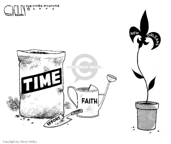 Steve Kelley  Steve Kelley's Editorial Cartoons 2006-08-29 disaster aftermath