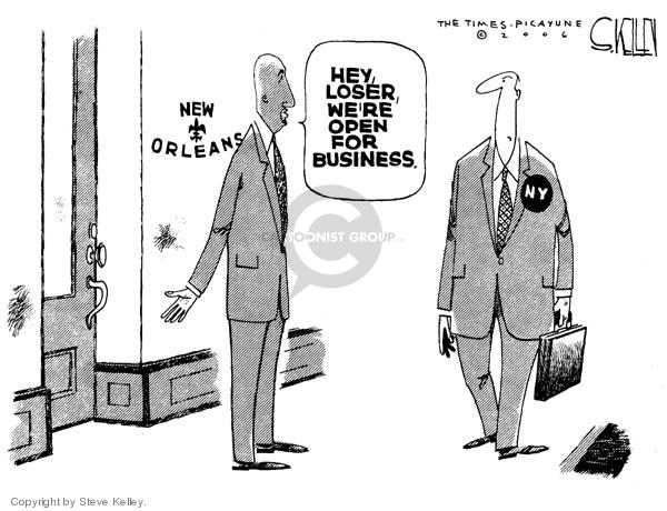 Steve Kelley  Steve Kelley's Editorial Cartoons 2006-09-05 disaster aftermath