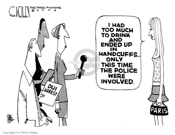 Steve Kelley  Steve Kelley's Editorial Cartoons 2006-09-07 policeman