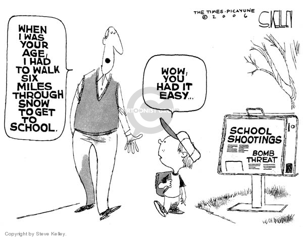 Cartoonist Steve Kelley  Steve Kelley's Editorial Cartoons 2006-10-09 shooting