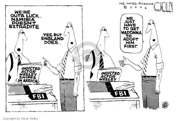 Steve Kelley  Steve Kelley's Editorial Cartoons 2006-10-20 luck