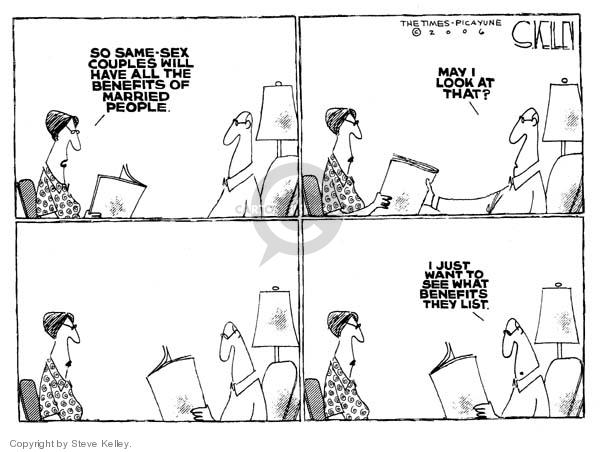Cartoonist Steve Kelley  Steve Kelley's Editorial Cartoons 2006-10-30 equal rights