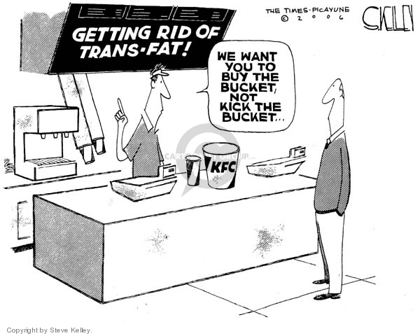 Cartoonist Steve Kelley  Steve Kelley's Editorial Cartoons 2006-11-01 fast food
