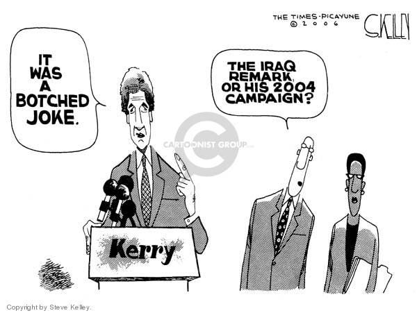 Cartoonist Steve Kelley  Steve Kelley's Editorial Cartoons 2006-11-02 2004 election