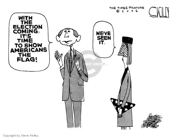 Steve Kelley  Steve Kelley's Editorial Cartoons 2006-11-02 patriotic