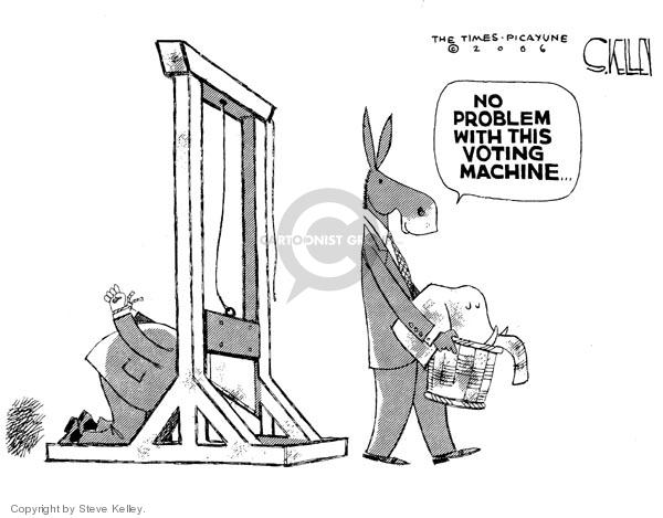 Steve Kelley  Steve Kelley's Editorial Cartoons 2006-11-09 voting rights