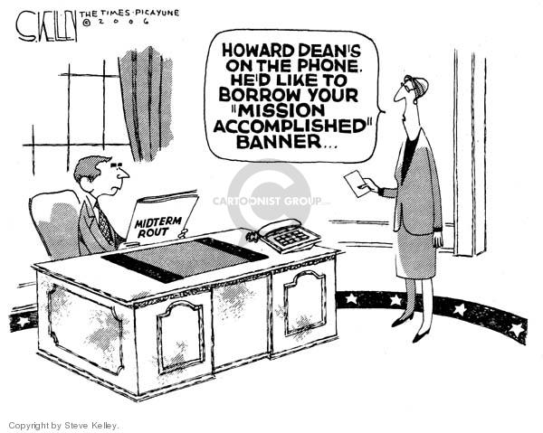 Steve Kelley  Steve Kelley's Editorial Cartoons 2006-11-10 2006