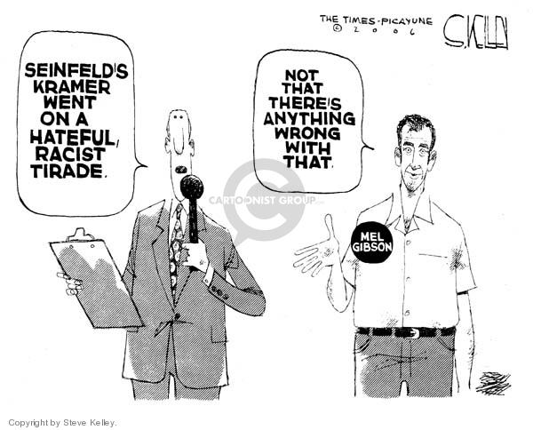 Steve Kelley  Steve Kelley's Editorial Cartoons 2006-11-22 racism