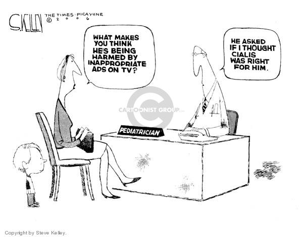 Steve Kelley  Steve Kelley's Editorial Cartoons 2006-12-05 inappropriate
