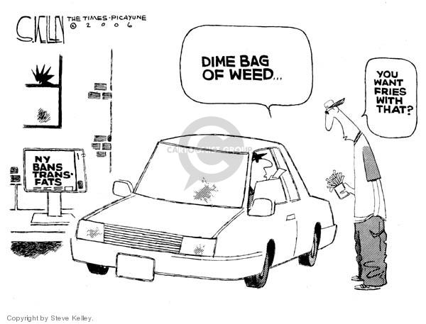 Cartoonist Steve Kelley  Steve Kelley's Editorial Cartoons 2006-12-08 ban