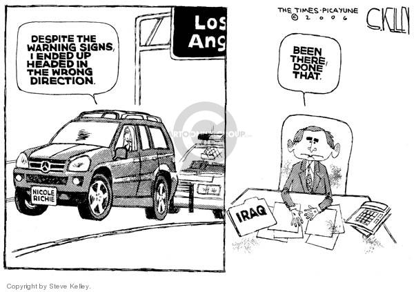 Steve Kelley  Steve Kelley's Editorial Cartoons 2006-12-13 highway