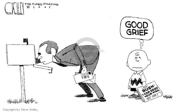Steve Kelley  Steve Kelley's Editorial Cartoons 2007-01-08 civil liberty