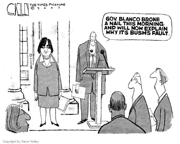 Steve Kelley  Steve Kelley's Editorial Cartoons 2007-01-26 disaster aftermath
