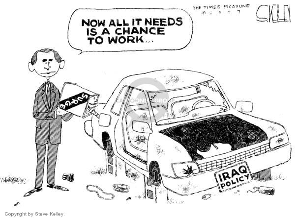 Steve Kelley  Steve Kelley's Editorial Cartoons 2007-01-29 chance