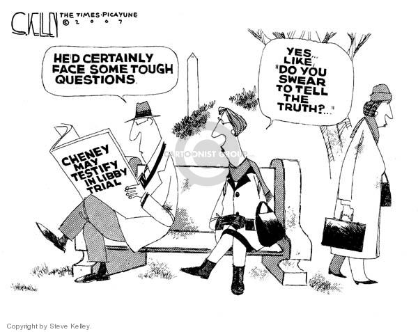 Cartoonist Steve Kelley  Steve Kelley's Editorial Cartoons 2007-01-31 CIA leak investigation