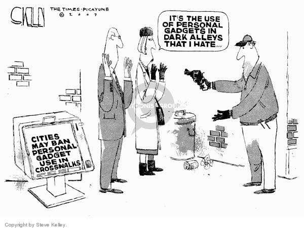 Cartoonist Steve Kelley  Steve Kelley's Editorial Cartoons 2007-02-08 gun violence