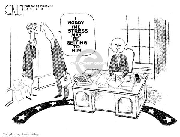 Cartoonist Steve Kelley  Steve Kelley's Editorial Cartoons 2007-02-22 hair