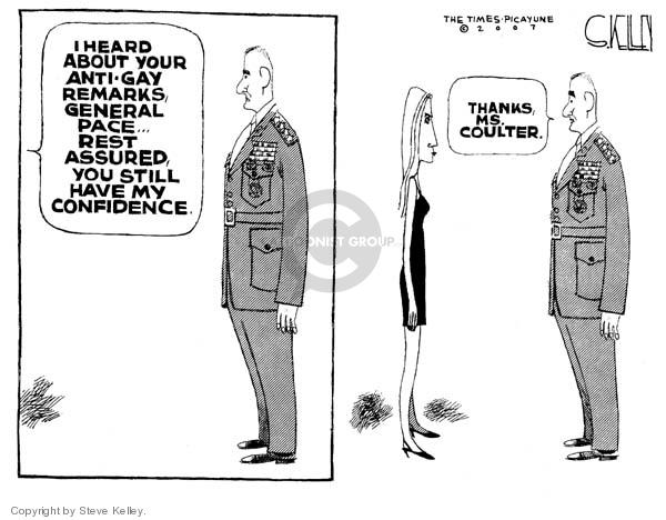Steve Kelley  Steve Kelley's Editorial Cartoons 2007-03-14 bigotry