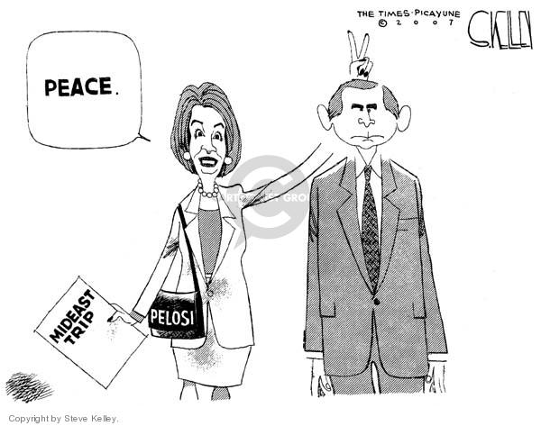 Steve Kelley  Steve Kelley's Editorial Cartoons 2007-04-06 peace