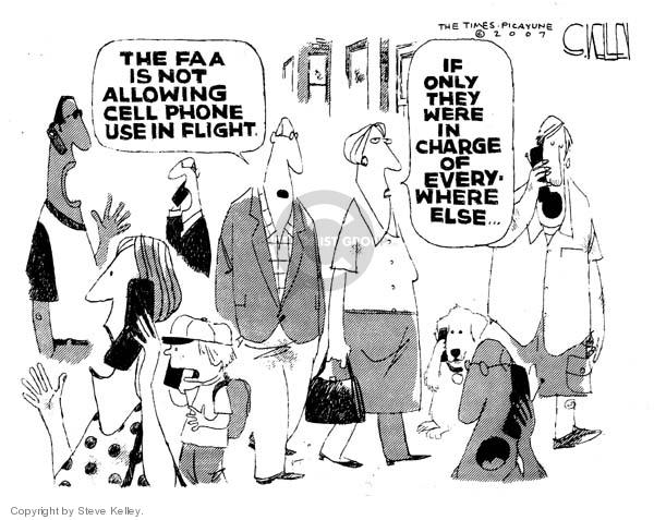 Cartoonist Steve Kelley  Steve Kelley's Editorial Cartoons 2007-04-10 cellular