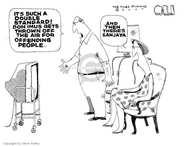 Steve Kelley  Steve Kelley's Editorial Cartoons 2007-04-13 racism