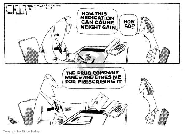 Cartoonist Steve Kelley  Steve Kelley's Editorial Cartoons 2007-04-27 medicine