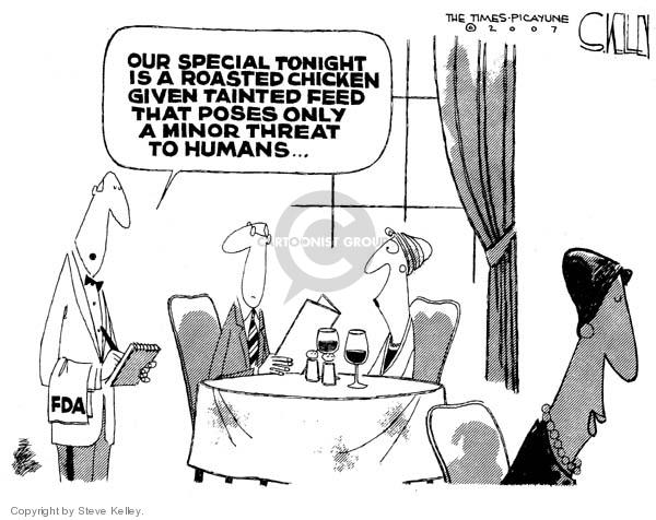 Cartoonist Steve Kelley  Steve Kelley's Editorial Cartoons 2007-05-03 threat