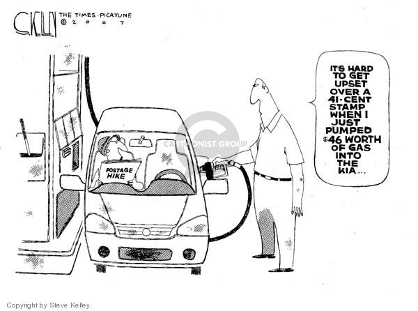 Cartoonist Steve Kelley  Steve Kelley's Editorial Cartoons 2007-05-15 automobile energy