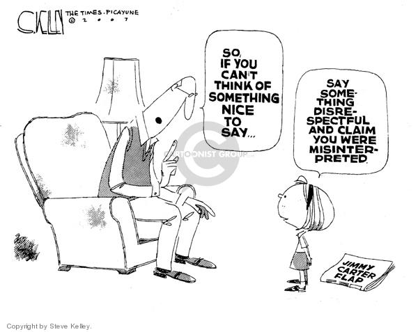 Steve Kelley  Steve Kelley's Editorial Cartoons 2007-05-22 criticism