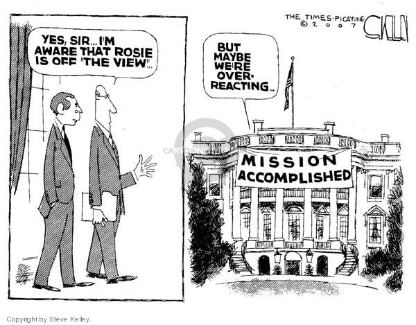 Cartoonist Steve Kelley  Steve Kelley's Editorial Cartoons 2007-05-30 sir