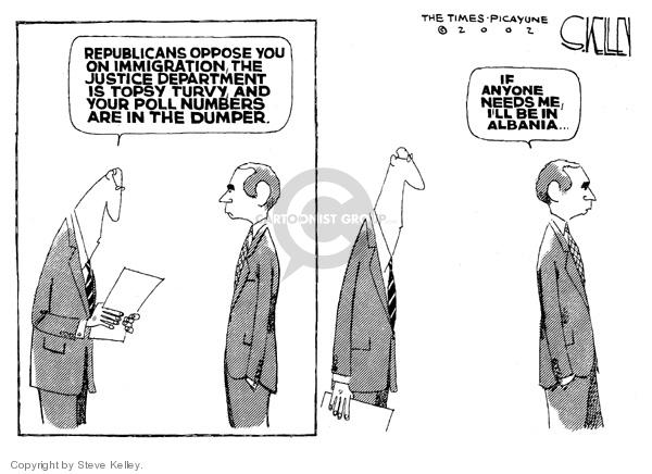 Steve Kelley  Steve Kelley's Editorial Cartoons 2007-06-13 immigration bill