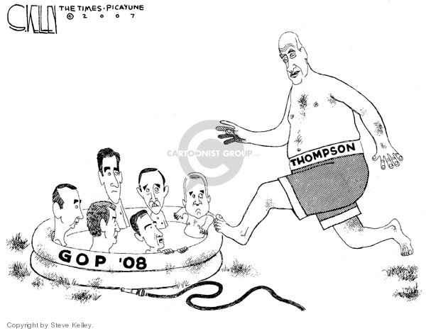 Steve Kelley  Steve Kelley's Editorial Cartoons 2007-06-14 Rudy Giuliani