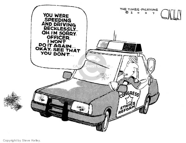 Steve Kelley  Steve Kelley's Editorial Cartoons 2007-08-03 enforcement