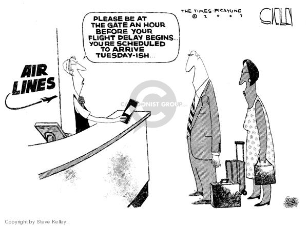 Steve Kelley  Steve Kelley's Editorial Cartoons 2007-08-08 airplane