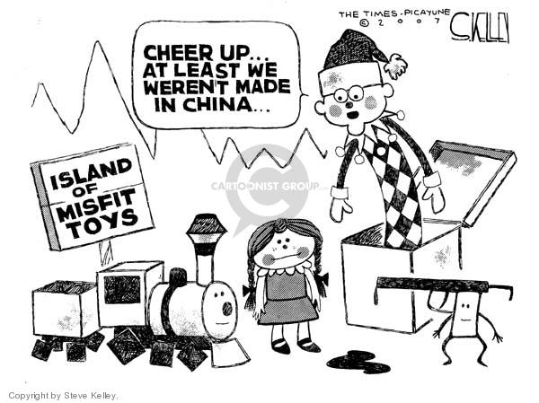 Steve Kelley  Steve Kelley's Editorial Cartoons 2007-08-16 China